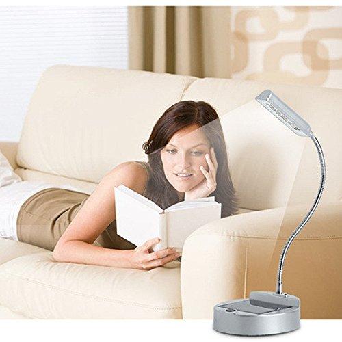 ELINKUME® Flexible Gooseneck-Art-LED Mini-Solar-Tischlampe , Augenschutz Schreibtischlampe , Solar-oder USB aufladbare Lampen Solar-Innenbeleuchtung Lese