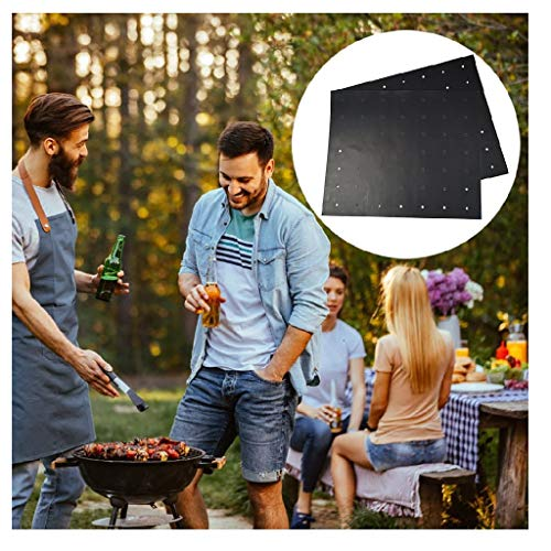 Grill Mat, Heavy Duty 600 Degree Non Stick BBQ Mats, Easy to Clean & Reusable, Gas Charcoal Electric Griling Accessories, Best for Outdoor Barbecue Baking and Oven Liner, Set of 6, 17x13-Inch