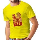 lepni.me Camisetas Hombre Tener Miedo de no Tener una Cerveza - para la Fiesta,...