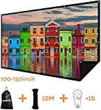 Double Layer Projector Screen 100 inch 16:9 Portable Projection Movie Screen 3D with No Light Transmission for Home Theater Outdoor Indoor Office with 15PCS Nails No Crease