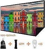 Écran de projection double couche 100 pouces 16:9 portable de projection film écran 3D sans transmission de lumière pour Home Cinéma Extérieur Bureau avec 15 clous sans pli