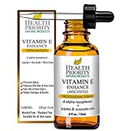 Organic Vitamin E Oil - Small Batch, Hand Made in South Carolina Using Sunflower Oil. Nourish Your Face and Repair Damaged Skin Naturally. (Unscented- 0.5 Fl Oz)