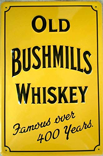 Old Bushmills Whiskey metalen bord 20 x 30 cm