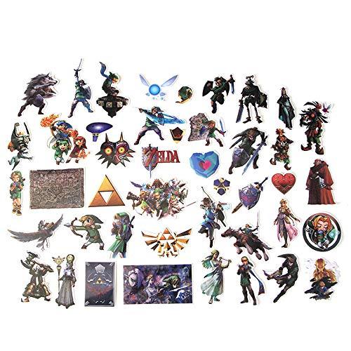Anime Stickers Hand-Tour Zelda Legend Aufkleber, kreative Persönlichkeit, Reisebox, Skateboard, Kühlschrank, Notizbuch, Cartoon-Aufkleber, 43 Stück