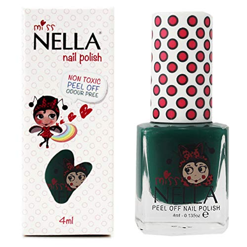 Miss Nella FIELD TRIPS- Spezieller Grün Nagellack für Kinder, Peel-Off-Formel, wasserbasiert und...