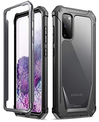 Poetic Samsung Galaxy S20 Custodia, Custodia Full-Body Ibrida Antiurto Paraurti, Proteggischermo Integrato, Serie Guardian Custodia per Samsung Galaxy S20,Nero/Chiaro