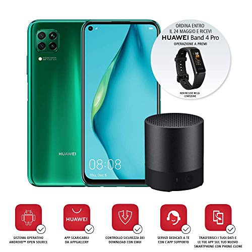 Huawei P40 Lite con Mini Bluetooth Speaker, Display Punch...