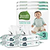 Seventh Generation Size 3 Diapers and Wipes Box - 93 Diapers with Animal Prints and 256 Wipes for Sensitive Skin (Packaging May Vary)