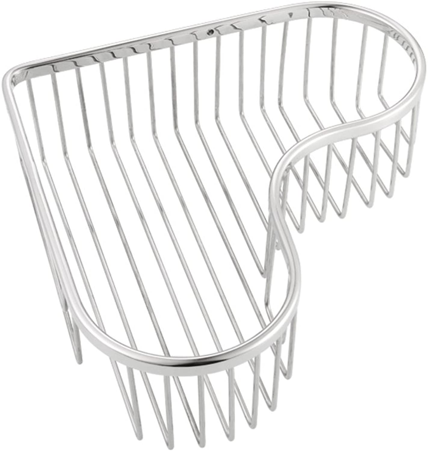 SYF Stainless Steel Bathroom Hanging Basket Items Placed Rack Heart-Shaped Storage Basket A+