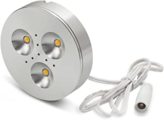 LEDQuant 3 Watt Dimmable Under Cabinet LED Light, Puck Light, Warm White