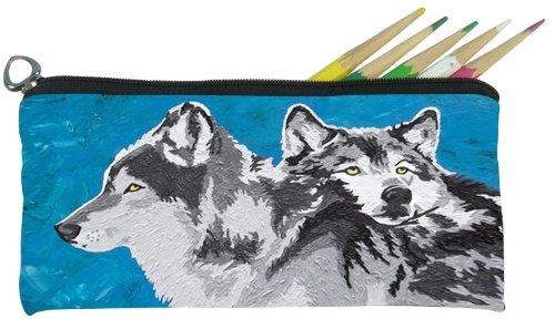 Salvador Kitti Small Pencil Bag (Wolves - Spirited Pack)
