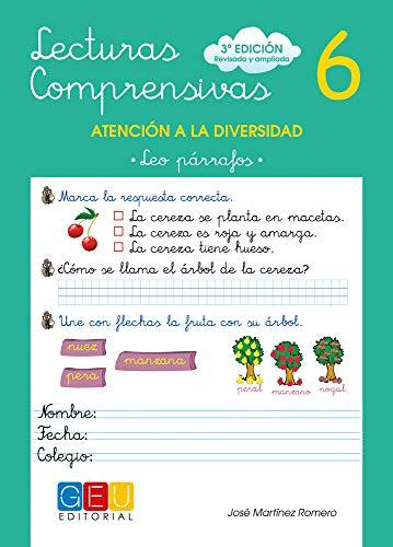 Lecturas comprensivas 6 / Editorial GEU / 1º Primaria / Mejora la comprensión lectora / Recomendado como apoyo / Actividades sencillas