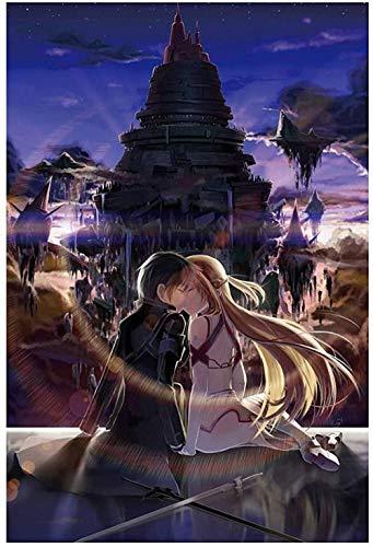 FPRW 1000 stukjes Houten puzzel, Anime Sword Art Online Puzzle, Volwassen kinderen besteden tijd aan het ontwikkelen van intellectuele spellen