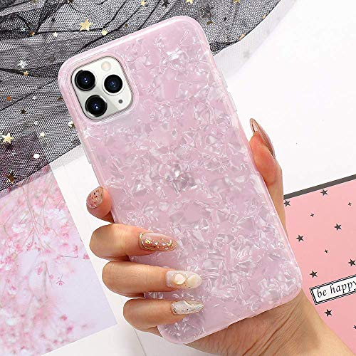 LLZ.COQUE for iPhone 11 Pro Case for Girls Fashion Pink Silicone TPU Protective Case Cover Soft Gel Skin Bumper Ultra Thin Slim Fit Anti-Scratch Non-Slip Shockproof Case for iPhone 11 Pro-Pink