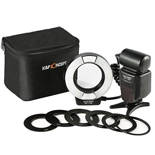Flash Macro Nikon - K&F Concept Flash Anular Ring para Nikon Compatible...