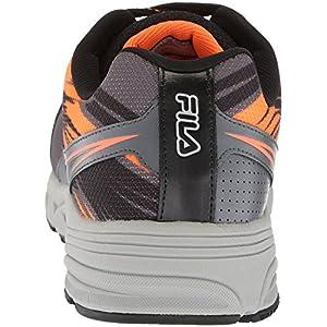 Fila Men's Memory Meiera 2 Slip Resistant Composite Toe Trail Running Shoe Food Service, Castlerock/Black/Vibrant Orange, 9 D US