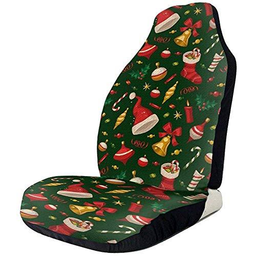 Alice Eva Autositzbezug Full Set - Weihnachtsmütze Bedruckte Autositzbezüge 2-tlg