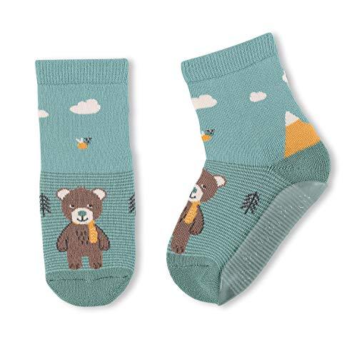 Sterntaler Baby-Jungen FLI Air Hausschuh-Socken, helltürkis, 24