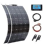 Kit De Paneles Solares, Célula Completa Fotovoltaica De 100 Vatios, 200 W, 300w, 400w, para Batería De 12V Y 24v, para Casa, Coche, Barco Y Yate (Color : 200W Solar Kit)