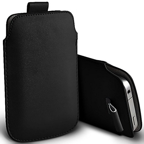 KP TECHNOLOGY Galaxy A21s Pull Tab PU Leather Pull Tab Pouch For Samsung Galaxy A21s (BLACK)