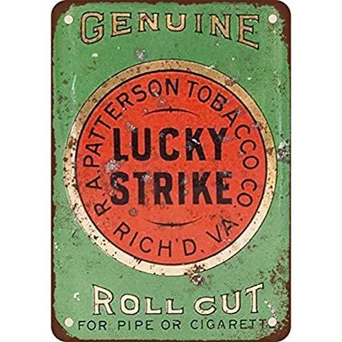 Lucky Strike Tabacco da Pipa e Sigaretta Tagliato a Rotolo Vintage Look Riproduzione Targa in Metallo Pollici-20x30cm