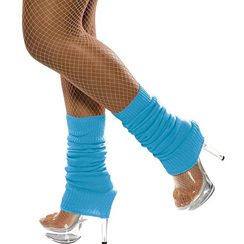 Top leg warmers neon blue for 2021