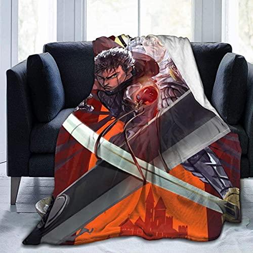 Berserker-weiche und Bequeme Decken, ultraweiche Micro-Fleece-Decke, para Bett o Sofa, Ganzjahres-Qualitätsdecken (80 'x 60' / 204 x 153 cm) BLK-1485