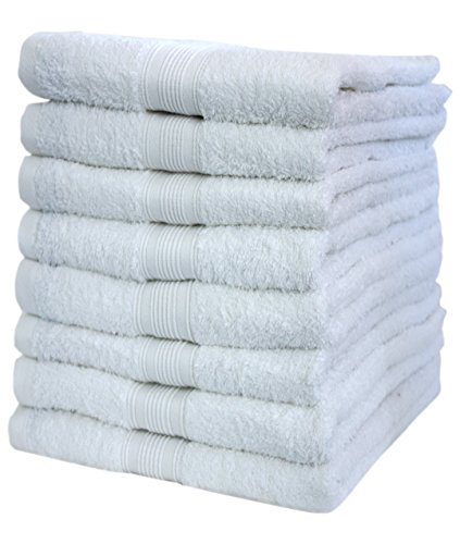 NatureMark 8X, 100% Baumwolle Handtücher, Weiß, 50 x 100cm, 8