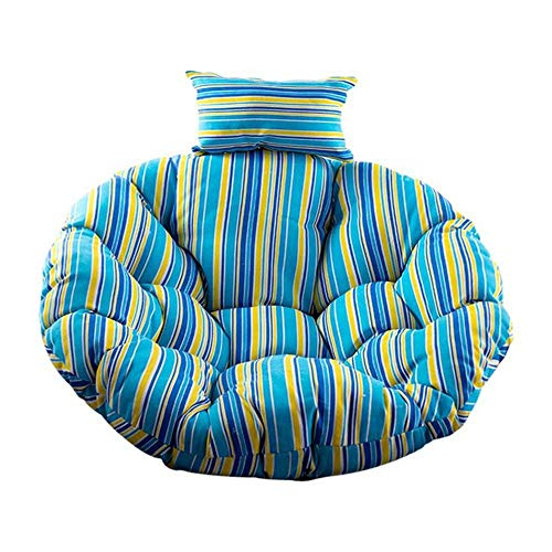 Cojín del asiento de la cesta colgante del columpio, respaldo grueso de la silla Cojines grandes de la silla de Papasan que cuelgan el cojín de la silla del huevo interior al aire libre E 110 * 110cm