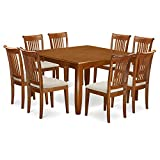 9 Pc Dining room set-Table with Leaf and 8 Kitchen Chairs.
