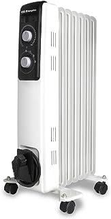 comprar comparacion Orbegozo RF 1500 Radiador de aceite, 1500W de potencia, construcción modular de 7 elementos y diseño en color blanco, Negro