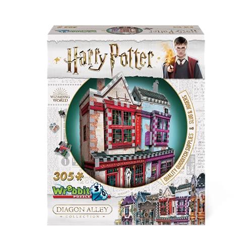 WREBBIT 3D Harry Potter Diagon Alley Quidditch Supplies & Slug & Jiggers 3D Jigsaw Puzzle (300 Pieces), Various