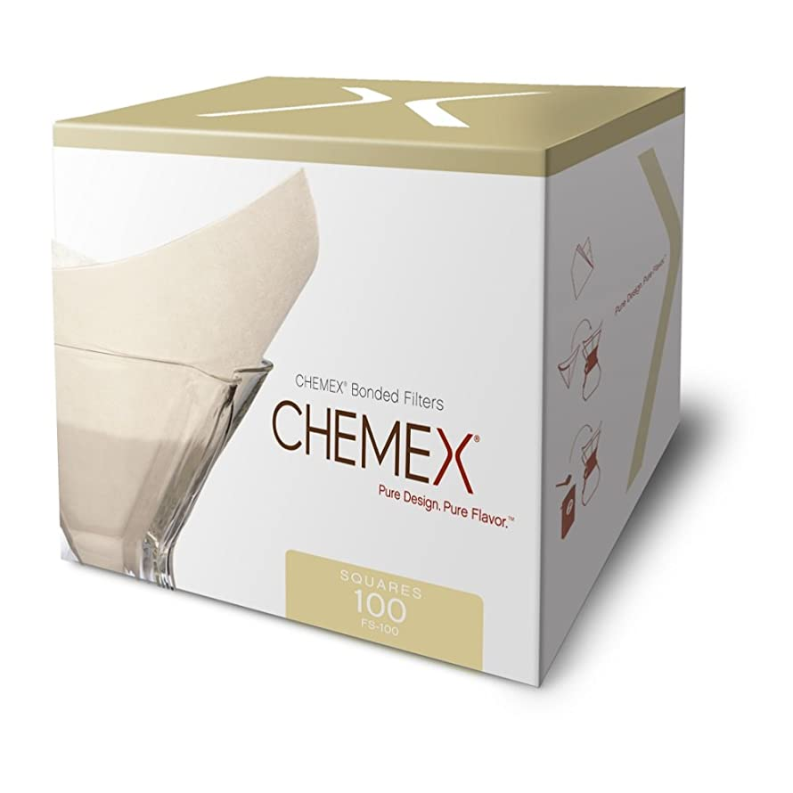 Chemex Classic Coffee Filters, Squares, Set of 200 - Exclusive Packaging wfmqrtm5015461