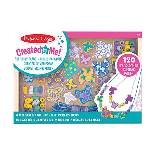 Melissa & Doug Butterfly Friends Bead Set | Arts & Crafts | DIY | 4+ | Gift for Boy or Girl