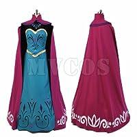 アナと雪の女王 エルサ コロネーション ドレス ワンピース コスプレ衣装 (女性XL)