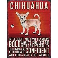 Chihuahua Dog ティンサイン ポスター ン サイン プレート ブリキ看板 ホーム バーために