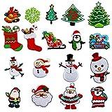 Navidad parches bordados 18 piezas Patch Sticker DIY Ropa Parches Parches ropa Termoadhesivos Parches ropa insignia de parche bordado,decoración DIY para ropa,bolso