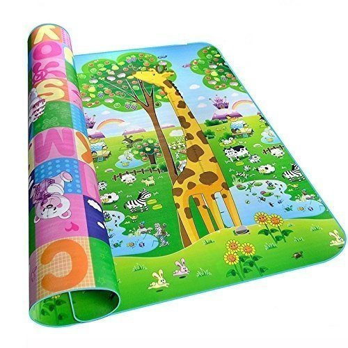 ENTREX Baby Play & Crawl Mat Outdoor & Camping Carpet Water-Resistant Picnic Mattress Kids Infant Crawling Play Mat Baby Care Play Mat Baby Puzzle Carpet Floor Rug Double Sided Baby Mat - 4 x 6 Foot