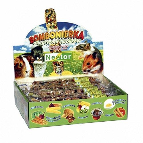 NESTOR Leckerbissen für Hamster, Meerschweinchen, Kaninchen 12 Knabberstangen Mix