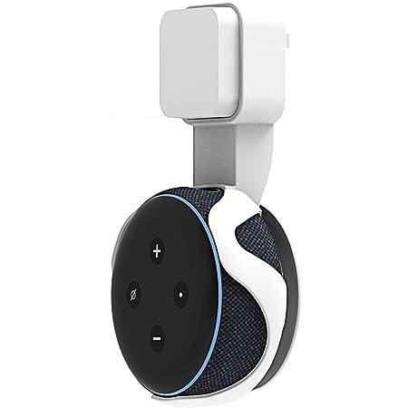 CoWalkers Soporte para Estuche de Montaje en Pared Echo Dot Soporte para Amazon Echo Dot (3ra generación) Accesorios Que ahorran Espacio para Altavoces domésticos sin Cables ni Tornillos (Blanco)