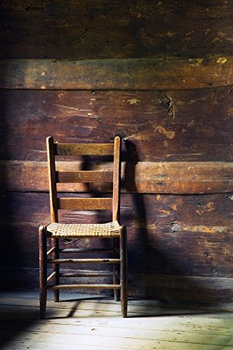 The Poster Corp Panoramic Images – Ladderback Chair in Empty Room Mountain Farm Museum Great Smoky Mountains National Park North Carolina USA. Photo Print (22,86 x 68,58 cm)