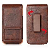 6.3 ' Universal Holster Pouch Card Slot Rotation Belt Clip Case || for iPhone 12, 11, Pro, Max Holder Belt Clip Holster Case for Galaxy Note 8 9 10+ /Galaxy S20 Ultra S8 S9 S10e ( Color : Brown )