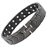 MagnetRX® Ultra Strength Magnetic Bracelet - Arthritis Pain Relief & Carpal Tunnel Relief Magnetic Therapy Bracelets for Men - Adjustable with Sizing Tool (Black)