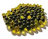 Rhinestone Paradise 500 g más de 90 unidades de musgo, canicas verdes, bolas decorativas de cristal, 16 mm, color verde