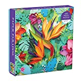 "Galison Paper Paradise Jigsaw Puzzle, 500 Pieces, 20""x20"" – Brightly Colored Scene of Paper Tropical Flowers and Plants – Challenging, Perfect for Family Fun – Fun Indoor Activity"