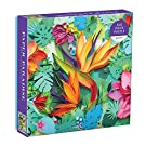 """Galison Paper Paradise Jigsaw Puzzle, 500 Pieces, 20""""x20"""" – Brightly Colored Scene of Paper Tropical Flowers and Plants – Challenging, Perfect for Family Fun – Fun Indoor Activity"""