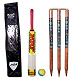 A2Z HUB Small Boy's Cricket Set, Wooden Cricket Kit with Carry Bag (Ideal for 5-9 Years Kids) -...