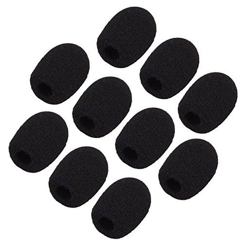 Windschutz-Schaumstoffhüll für Revers-Mikrofone/Headsets von Sunmns, mini, ch05-Abdeckung, schwarz, 10Stück