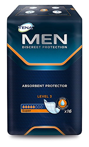 Tena Men Super Niveau 3 Pack de 16 Protections
