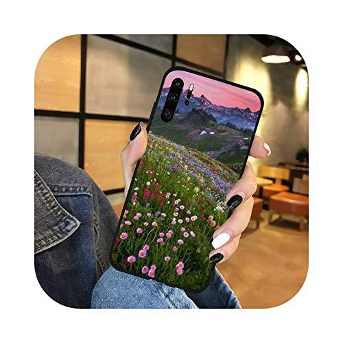 púrpura lavanda flor planta teléfono funda para Huawei P9 P10 P20 P30 Lite 2016 2017 2019 plus pro p smart-a2-para p Smart Plus